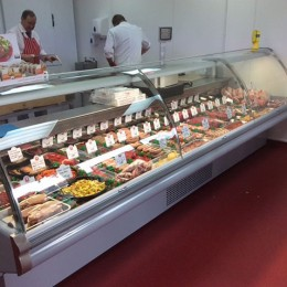 Butchery counter 3.75m, new condensor