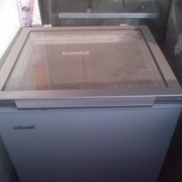 Small glass lidded freezer