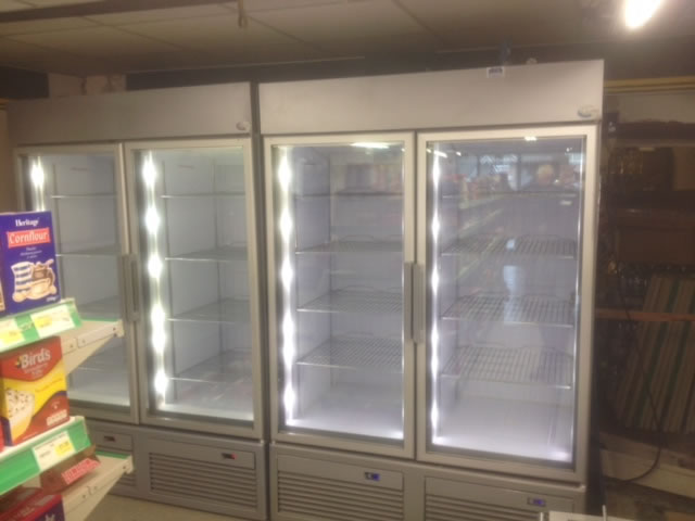 Used display freezers and soft scoop ice cream displays area upright glass door freezers with led lighting planetlyrics Gallery