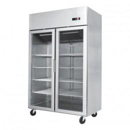 2 door, 1200mm (w) x 740mm (d) x 1950mm (h), all stainless, temp. +2 - +8, LED lighting, high ambient spec.