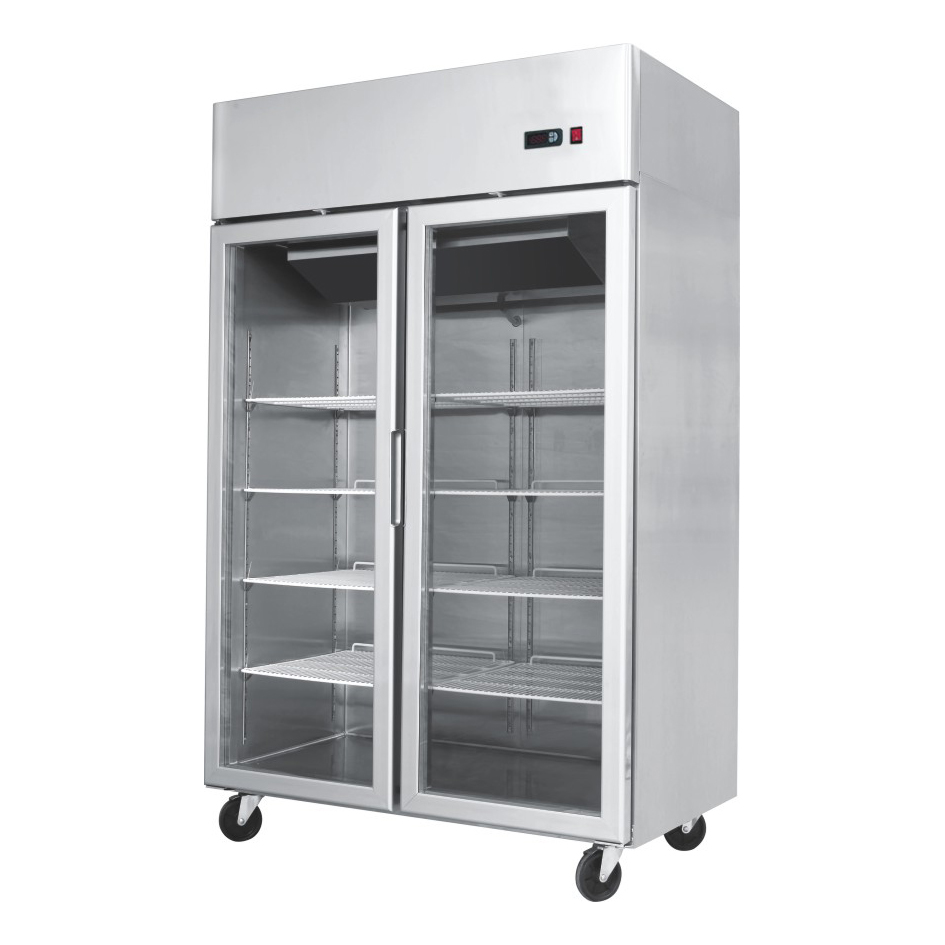 Glass door fridges and freezers area refrigeration 2 door 1200mm w x 740mm  d x 1950mm h stokkelandfo