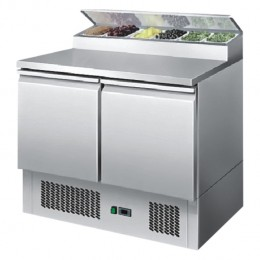2 or 3 door fold down lid saladette, high ambient, stainless, +2 - +8