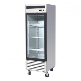 Single door, 685mm (w) x 800mm (d) x 2130mm (h), all stainless, temp. +2 - +8, LED lighting, high ambient spec.