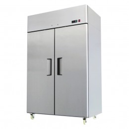 Double door slimline chiller 1200 wide, -2 / +2, all stainless, high ambient
